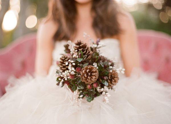 Зимние букеты невесты