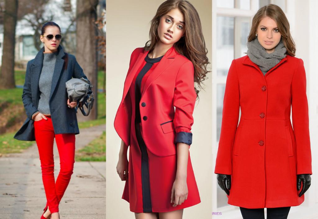 С чем сочетается красный цвет в гардеробе