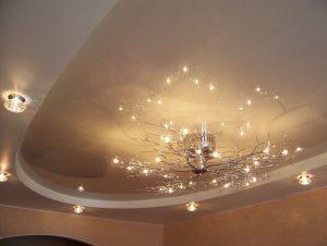 Преимущества материалов натяжного потолка