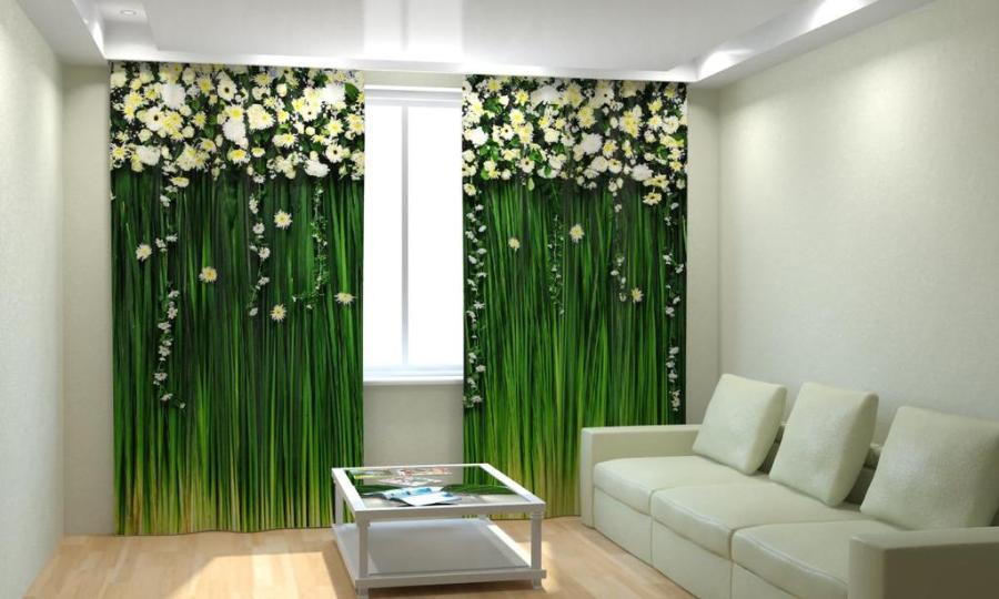 Преимущества шторы с 3D эффектом для комнаты