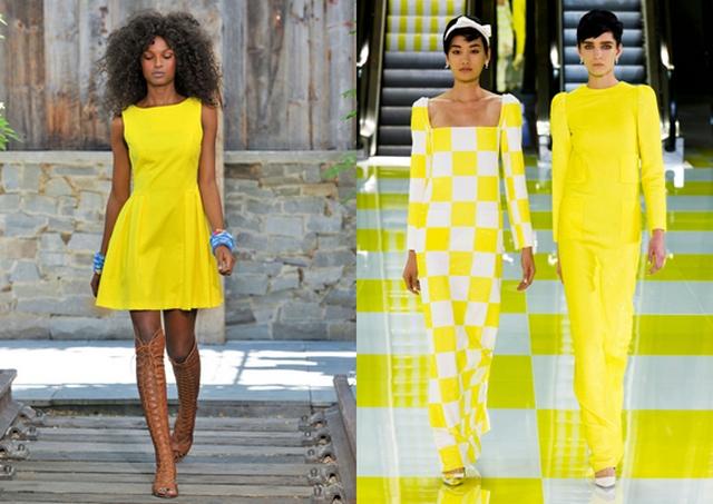 Стильные желтые платья