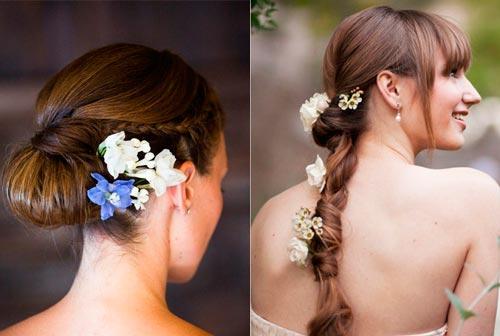 Красивый летний акцент – украшения для волос с цветами