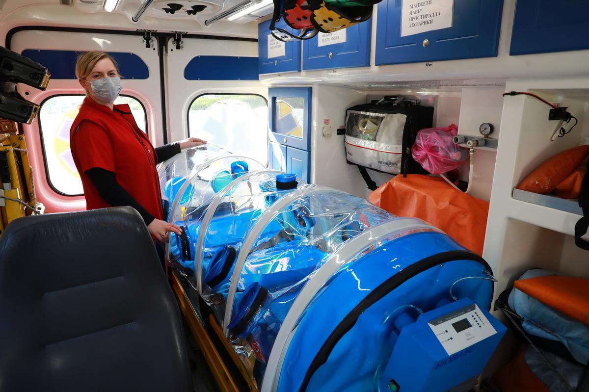 Транспортировка коронавирусных больных