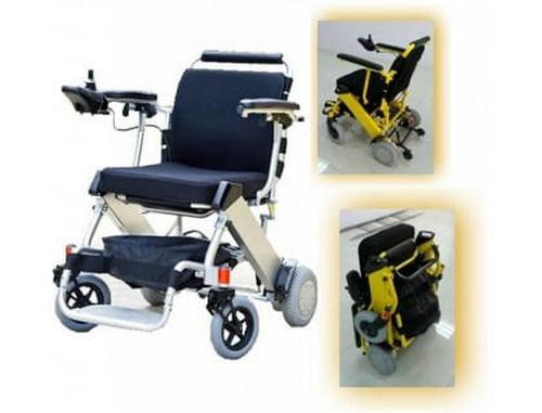 Как складывается инвалидная коляска?