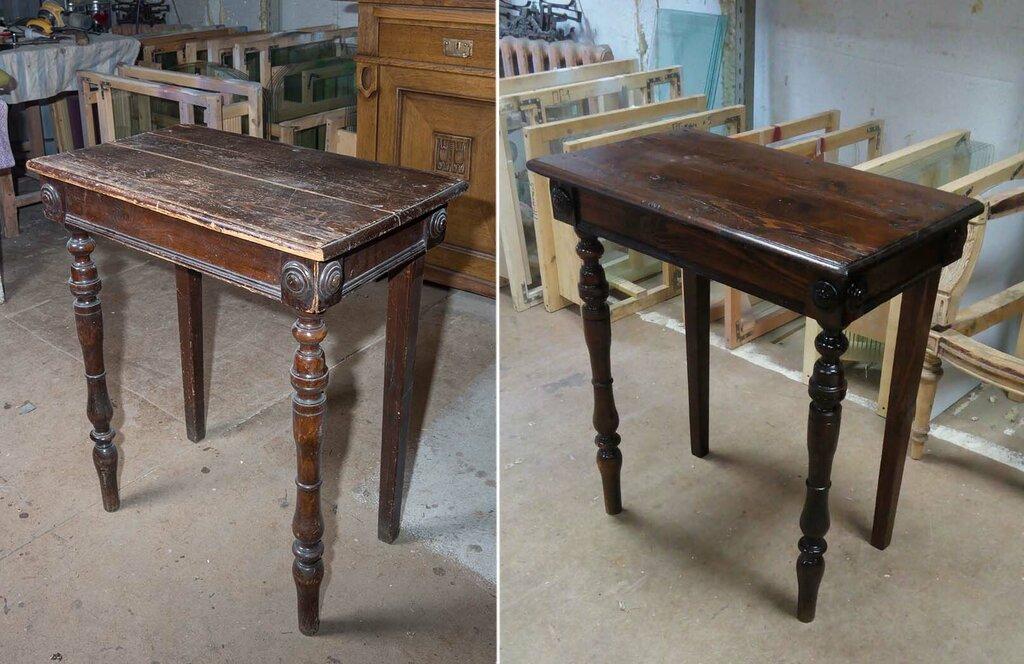 Как отреставрировать деревянный стол